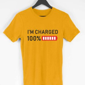 I'm Charged Half Sleeve T-shirt