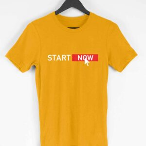 Start Now Half Sleeve T-Shirt [2 Colors]